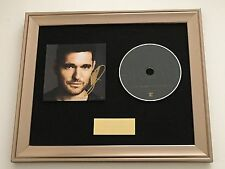 PERSONALLY SIGNED/AUTOGRAPHED MICHAEL BUBLE NOBODY BUT ME FRAMED CD PRESENTATION