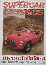 Supercar Classics magazine September 09/1987 featuring Ferrari, Jaguar XJ5.3C