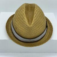 Goorin Bros Everyday Sand Cassel Kids Straw Fedora Hat One Size