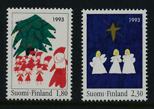 Finland 928-9 MNH Christmas Tree, Three Angels