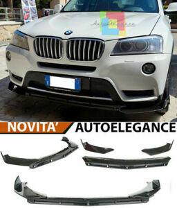 BMW X3 F25 2010-2017 LAMA SOTTO PARAURTI ANTERIORE IN ABS NERO SPLITTER TUNING