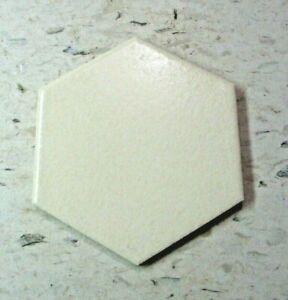 "Florida FT USA Porcelain Ceramic 4-1/4"" Crystalline Beige 6 Sided Hexagon 1 Tile"