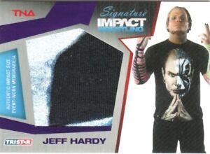 JEFF HARDY - TNA SIGNATURE IMPACT - RELIC CARD PURPLE 1/1 - UNIQUE RARE - 2011