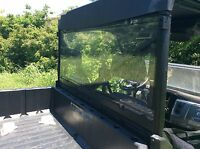A&S  POLARIS RANGER XP 900 3/16 POLYCARBONATE  REAR WINDSHIELD 2014-2019
