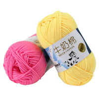 50G/Ball Crochet Yarn Milk Cotton Knitting Hand Children Crochet Supplies Yarn
