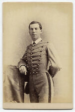 CABINET CARD MAN IN MILITARY STYLE UNIFORM. N.Y.