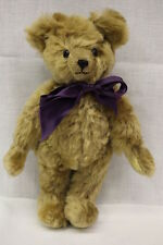 """THE ENGLISH TEDDY BEAR CO. """"Winchester"""" Jointed Bear W/Purple Bow, 10"""" Tall"""