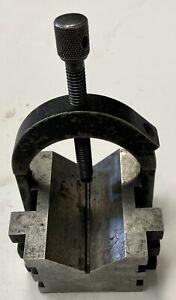Starrett 568 V-Block 3/8-16 NC Machinist Tool With Clamp