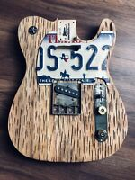 Pistols Crown Guitars Barncaster Telecaster Relic BODY ONLY Pecan Weird Cuts