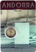 Coin Card 2 EURO COMMEMORATIVO ANDORRA 2015 Maggiore Età Diritti Politici
