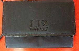 Liz Claiborne Rich Black Nylon Twill Wallet Evening Bag Vintage