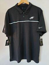Nike NFL Eagles Dri Fit On Field Apparel Size 2XL Golf Polo Black CI3405-010 NWT