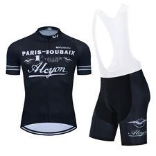 New Mens Short Sleeves Cycling Jersey & Bib Shorts Padded Breathable Bike L Size