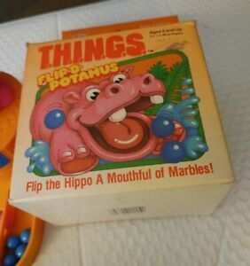 1986 T.H.I.N.G.S Flip-O-potamus Milton Bradley THINGS