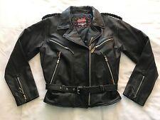 Interstate Leather Motorcycle Biker Jacket (L) J4