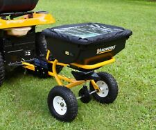 Large 85 Tow Behind Broadcast Fertilizer Seed Ice Melt Spreader Lawn Tractor ATV