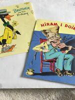 Vintage Hallmark Happy Birthday Duck Old Man 40's Paper Card Notes