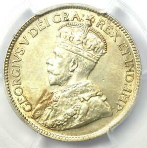 1919 Canada George V 25 Cent Coin 25C - Certified PCGS MS64 (BU UNC) - Rare!