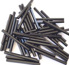 30mm Japanese seed beads Opaque Black Bugle 25Grams- More Beads