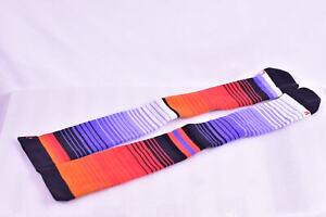 Stance Compression Snowboarding Socks- Purple, Black, & Red Stripes, One Size