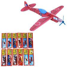 12 Flying Glider Planes Aeroplane Fillers Childrens Kids Toys Game Gift Model