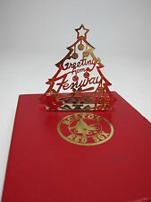Boston Red Sox Christmas Ornament 1991 Season Ticket Brass Tree Fenway in Box