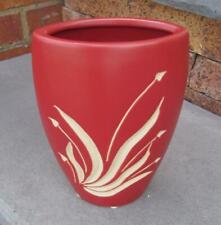 """Reddish Brown Oval 7.5"""" Floral Contemporary Vase"""