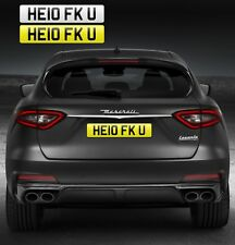 HELLO F*CK YOU (HE10 FK U) PRIVATE NUMBER PLATE RUDE FUNNY CHEEKY FAST LOSER REG