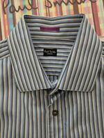 PAUL SMITH Men's SHIRT 17 inch Collar - Double Cuffs - Excellent Condition