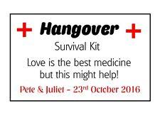 Hangover KIT Hen Night ETICHETTE Amore Matrimonio Favore Autoadesivo