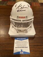 Andre Ware Signed Houston Cougars Riddell White Mini Helmet 89 Heisman Beckett 1