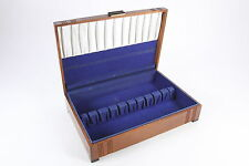 Vintage Flatware Storage Chest Wooden Box 10 Silverware Slots No Knife Holders