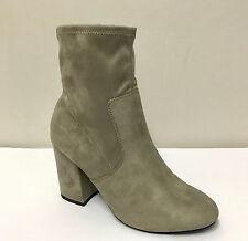 Ex New Look Women Grey Anita Ankle Block Heel Boots Variety Sizes 4, 5, 6, 7