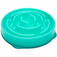 Kyjen Drop Slo-Bowl Slow Feed Fun Feeder Dog Bowls size Large Color Teal