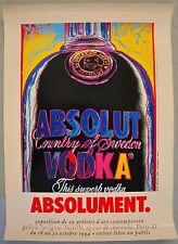 Andy Warhol original poster 1994  Absolut Vodka, expo Paris