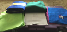 Lot Felt Lime Green White Blue Pink 15 Sheets 1 Yard 1/2 Yard New Sewing Crafts