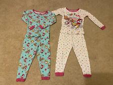 Paw Patrol Infant Girls' 2 Pajama Tops & 2 Pants Size 3T Marshall/Skye