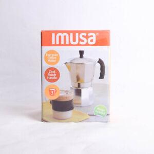 Imusa Small 3 Cup Aluminum Moka Pot Stovetop Espresso Coffee Maker Pot