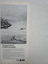 12/1973 PUB KAMAN HELICOPTER SH-2F LAMPS SEASPRITE US NAVY ASM ORIGINAL AD