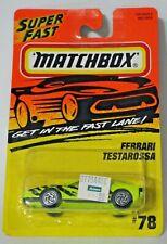 MATCHBOX #78 FERRARI TESTAROSSA LIME GREEN a