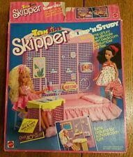 1980s Barbie Skipper Teen Time Sleep and Study 40 Pieces Vintage