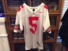 acee11ed6 VTG 90 s OSU Ohio State Buckeyes  5 White Team Nike Football Jersey SZ M -