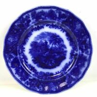 Flow Blue Nonpareil Plate by Burgess & Leigh Middleport Pottery 8.75""