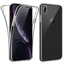 SDTEK iPhone XR Case 360 Full Cover Silicone Front + Back