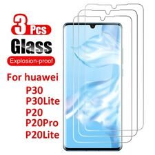 For Huawei P20 P30 P9 P8 Lite Tempered Glass Protective Screen Protector Film 3X