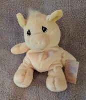 "Enesco Precious Moments Tender Tails PIG Plush Stuffed Animal 7"" Tall"