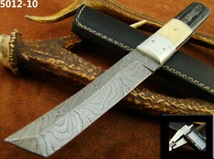 DAMASCUS STEEL TANTO KNIFE W/SHEATH (5012-10
