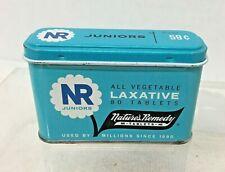 Vintage Nature's Remedy Laxative Tin Blue Juniors 80pc 2 7/8 x 1 T24