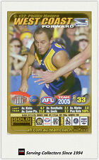 2005 AFL Teamcoach Gold Trading Card G132 Phillip Matera (West Coast)
