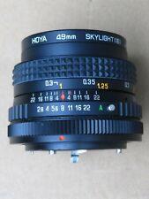 Sunactinon 28mm f/2.8 MC Canon RACCORDO montaggio FD